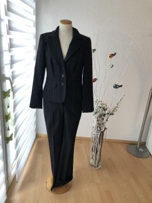 Laura Scott Costume à rayures noir-rose clair