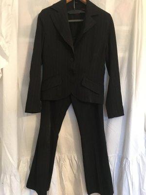 Pinstripe Suit black-carmine
