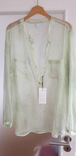 Nadine H. Silk Blouse lime-green