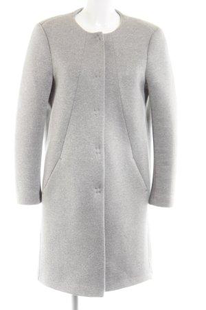 Nadine H. Fleece jas lichtgrijs gestippeld casual uitstraling