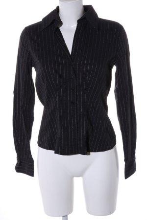 Nadine H. Hemd-Bluse schwarz Streifenmuster Casual-Look
