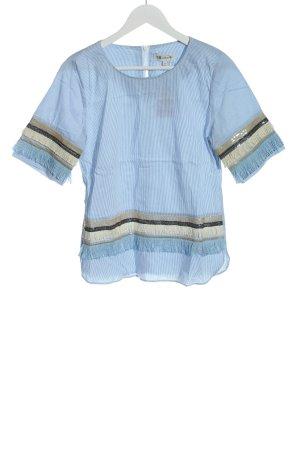 Nadine H. Kurzarm-Bluse blau-weiß Streifenmuster Casual-Look