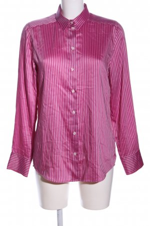 Nadine H. Langarm-Bluse pink Streifenmuster Casual-Look