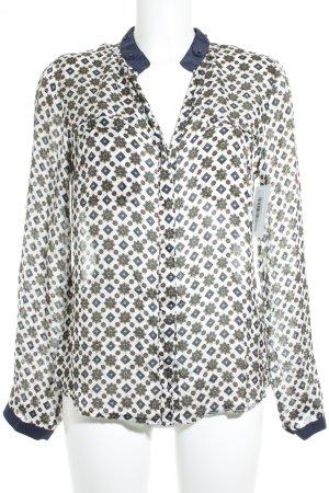 Nadine H. Langarm-Bluse abstraktes Muster Casual-Look