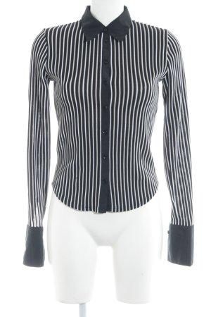 Nadine H. Langarm-Bluse schwarz-weiß Streifenmuster Casual-Look