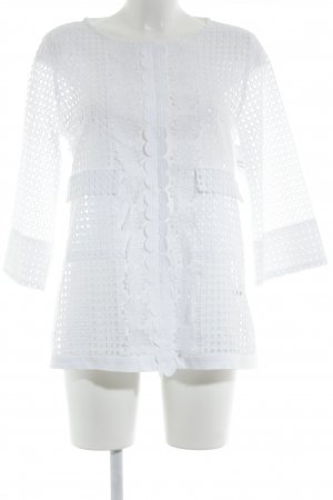 Nadine H. Langarm-Bluse weiß Elegant