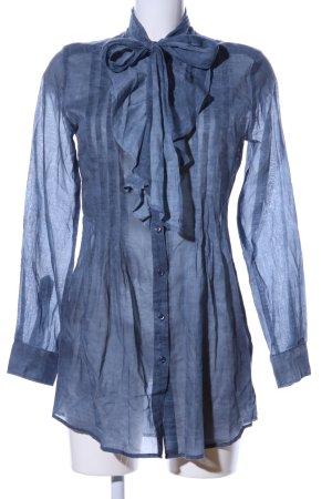 Nadine H. Long-Bluse blau Casual-Look