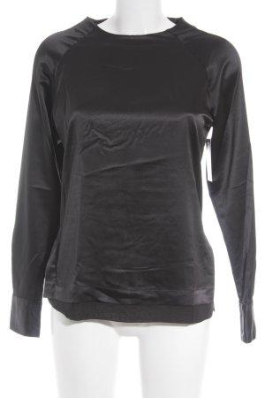 Nadine H. Schlupf-Bluse schwarz Glanz-Optik