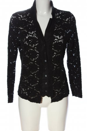 Nadine H. Lace Blouse black weave pattern casual look