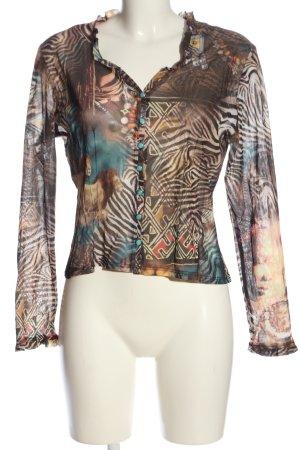 Nadine H. Transparenz-Bluse abstraktes Muster Casual-Look