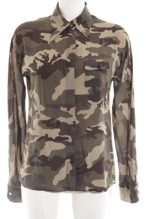 Nadine H. Transparenz-Bluse khaki Camouflagemuster Casual-Look