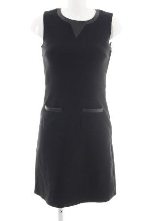 Naf naf Abendkleid schwarz Allover-Druck Elegant