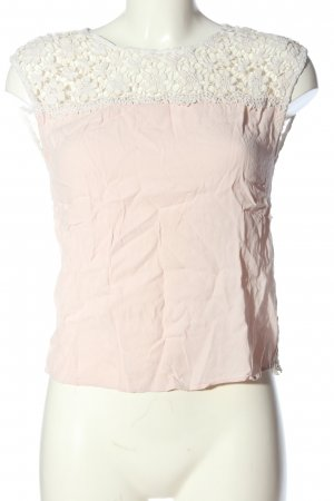 Naf naf ärmellose Bluse pink-weiß Casual-Look