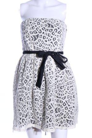Naf naf Bandeaukleid weiß-schwarz Elegant