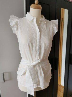Naf naf Bluzka z falbankami biały