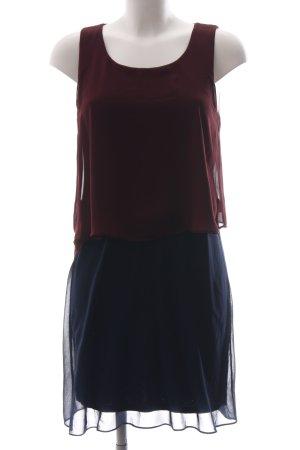 Naf naf Blusenkleid rot-blau Business-Look
