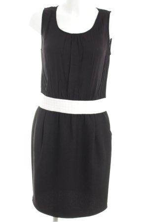 Naf naf Blusenkleid schwarz-weiß Business-Look
