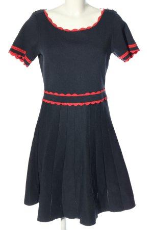 Naf naf Cut-Out-Kleid schwarz-rot Casual-Look