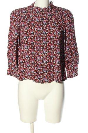 Naf naf Hemd-Bluse pink-blau Allover-Druck Business-Look