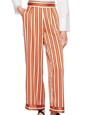 Naf naf Pantalón estilo Harem blanco-naranja claro