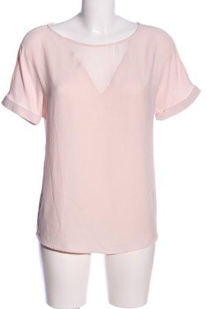 Naf naf Kurzarm-Bluse pink Business-Look