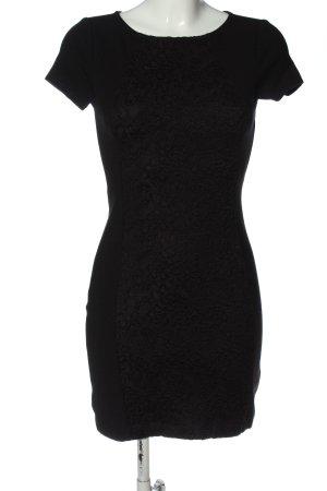 Naf naf Vestido de manga corta negro estilo clásico