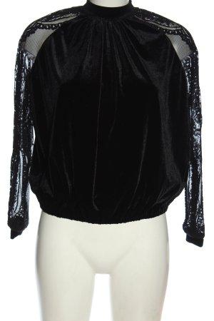 Naf naf Blusa de manga larga negro elegante