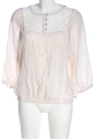 Naf naf Blusa de manga larga blanco puro elegante