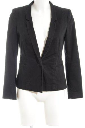 Naf naf Long-Blazer schwarz klassischer Stil