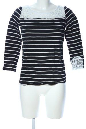 Naf naf Longshirt schwarz-weiß Streifenmuster Casual-Look