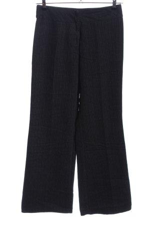 Naf naf Spodnie Marlena czarny Wzór w paski W stylu biznesowym