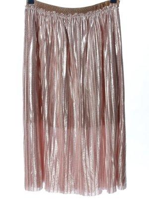 Naf naf Midirock silberfarben-pink Streifenmuster Casual-Look