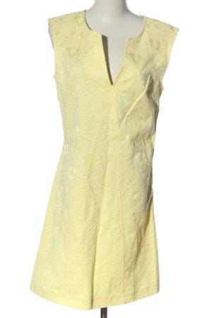 Naf naf Minikleid blassgelb grafisches Muster Casual-Look