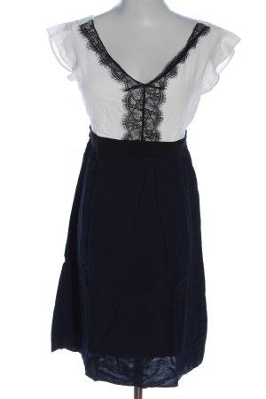Naf naf Mini vestido negro-blanco look casual