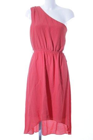 Naf naf Sukienka na jedno ramię czerwony Prosty styl
