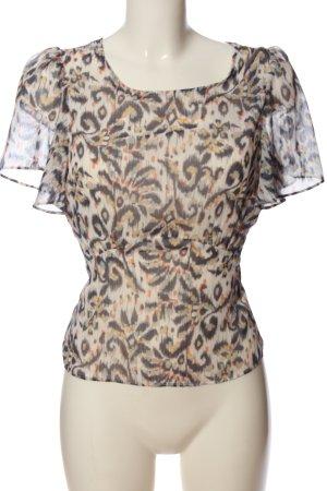 Naf naf Kurzarm-Bluse abstraktes Muster Casual-Look