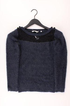 NAF NAF Pullover mit Glitzer Größe S blau aus Polyamid