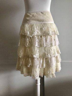 Naf naf Falda de encaje blanco puro-blanco