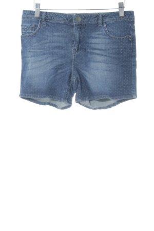 Naf naf Shorts kornblumenblau-himmelblau Punktemuster Casual-Look