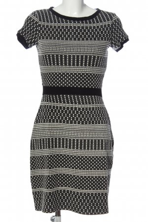Naf naf Robe en maille tricotées noir-blanc imprimé allover