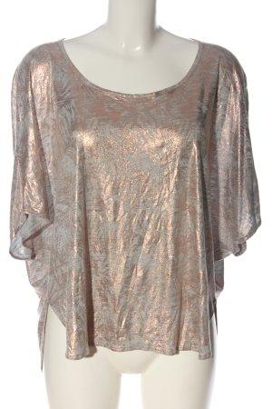 Naf naf Strickshirt hellgrau-bronzefarben abstraktes Muster Casual-Look