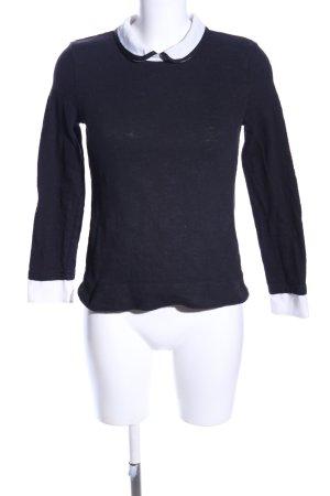 Naf naf Sweatshirt schwarz-weiß Casual-Look