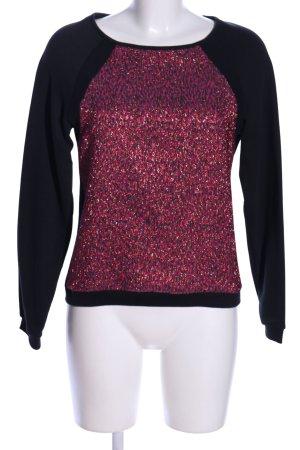 Naf naf Sweatshirt schwarz-pink Allover-Druck Casual-Look