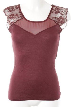 Naf naf T-Shirt dunkelrot-bordeauxrot Casual-Look