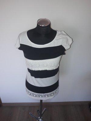 naf naf t-shirt gr. s gestreift spitze