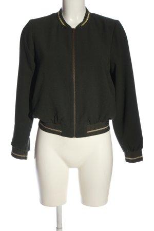 Naf naf Übergangsjacke khaki-goldfarben Streifenmuster Casual-Look