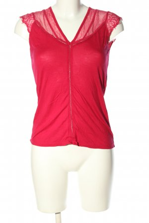 Naf naf V-Ausschnitt-Shirt pink Casual-Look
