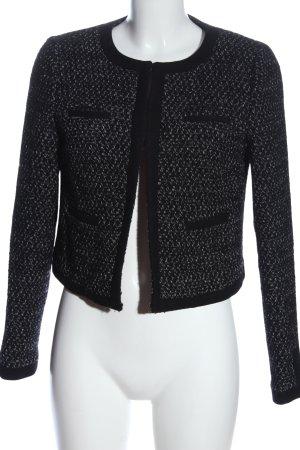 Naf naf Wollen blazer zwart-wit gestippeld zakelijke stijl