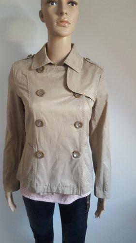 Nafnaf  Damen Cargo Trenchcoat Jacke beige Militäry Look Größe 36
