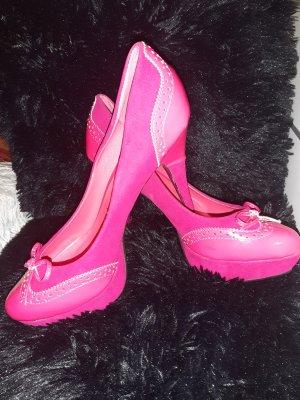 Décolleté con plateau rosa-magenta